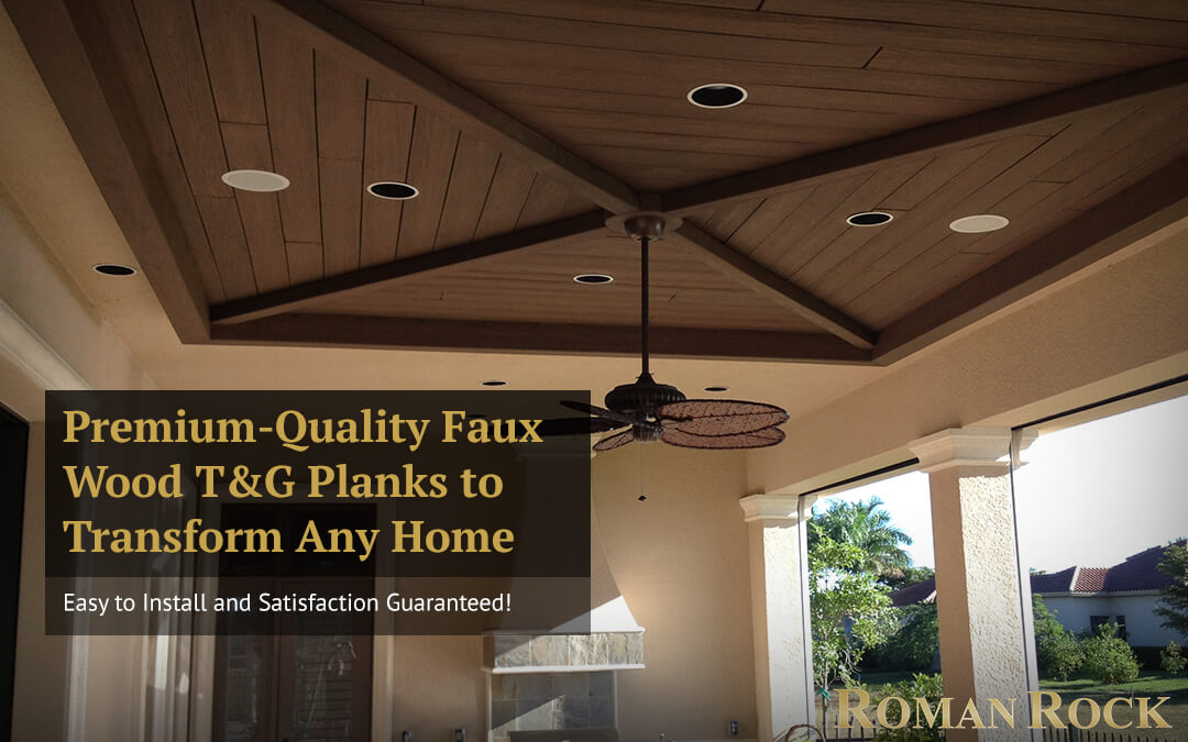Install Premium-Quality Faux Wood Tongue and Groove Planks to Transform Any Home